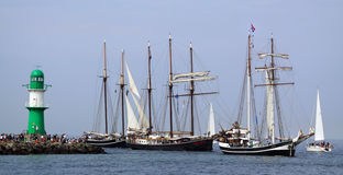 Traditional sailing ships Royalty Free Stock Photo