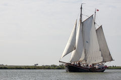 Traditional sailing in the wind Stock Photo