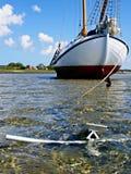Traditional sailing yacht Wadden Sea Stock Photos