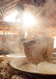 Traditional salt making Royalty Free Stock Images