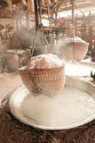Traditional salt making Royalty Free Stock Photos
