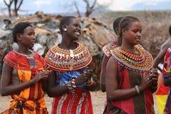 Traditional Samburu women in Kenya royalty free stock photography