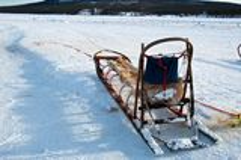 Traditional  Sami national sledge Stock Image