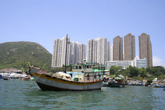 Traditional Sampan boat, Hong Kong, China Royalty Free Stock Image
