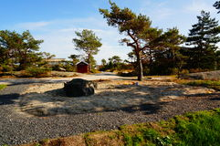 Traditional sandpit for children, Norway Stock Images