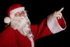 Traditional Santa Claus. Showing finger Royalty Free Stock Photo