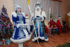 Traditional Santa Claus Games in Karelia, Russia Royalty Free Stock Images