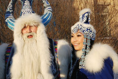 Traditional Santa Claus Games in Karelia, Russia Stock Photos