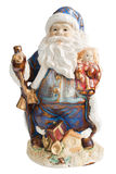 Traditional Santa Claus giving a big ho ho ho bell Royalty Free Stock Photography