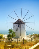 Traditional Santorini windmill Royalty Free Stock Photo