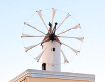 Traditional Santorini windmill Stock Image