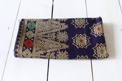 Traditional Sarawak Sarong with pattern Stock Image