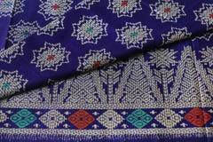 Traditional Sarawak Sarong with pattern Stock Photos