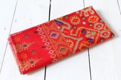 Traditional Sarawak Sarong with pattern Royalty Free Stock Photos