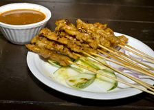 Traditional Satay Dish Stock Image
