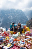 Traditional Saturday market  in  Namche Bazar, Nepal Stock Image