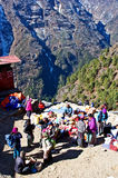 Traditional Saturday market  in  Namche Bazar, Nepal Royalty Free Stock Images