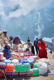 Traditional Saturday market  in  Namche Bazar Royalty Free Stock Images