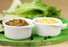 Traditional sauce dijon mustard Stock Photo