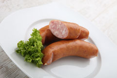 Traditional sausages Royalty Free Stock Photo