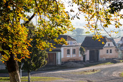 Traditional saxon village houses Royalty Free Stock Photography
