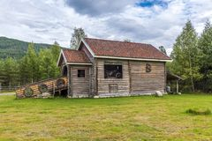 Scandinavian house Royalty Free Stock Images