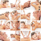 Traditional Scandinavian massage collection Stock Images