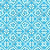 Traditional scandinavian pattern. Nordic ethnic seamless background Stock Photos