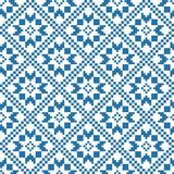 Traditional scandinavian pattern. Nordic ethnic seamless background Royalty Free Stock Images