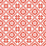Traditional scandinavian pattern. Nordic ethnic seamless background Stock Photography