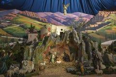 Birth of Jesus in Betlehem. Traditional scene of the birth of Jesus in Bethlehem stock photos