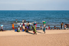 Traditional scenery at Lake Malawi. Stock Photography