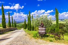 Traditional scenery of Tuscany, Italy Stock Images