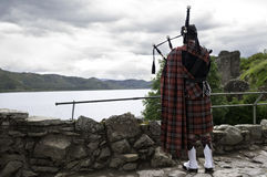 Traditional scottish bag piper Royalty Free Stock Images