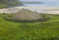 Traditional scottish black house in Lewis isle. Scotland. UK Stock Image