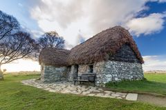 Traditional Scottish cottage, Culloden royalty free stock photo