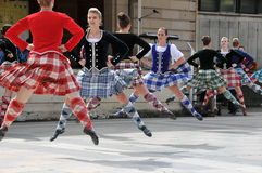 Traditional Scottish dancers Edinburgh Tattoo. Traditional Scottish dancers exhibition at Edinburgh Military Tattoo and Fringe Festival stock images