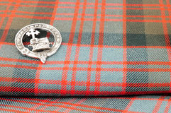 Traditional Scottish Donald Clan Tartan Wool Fabric Royalty Free Stock Photos