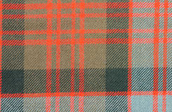 Traditional Scottish Donald Clan Tartan Wool Fabric Stock Photography