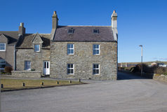 Traditional Scottish houses Royalty Free Stock Photos