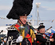 Traditional Scottish man at Nairn Highland Games Royalty Free Stock Photography