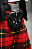 Traditional Scottish outfit. Kilt and sporran Stock Photos