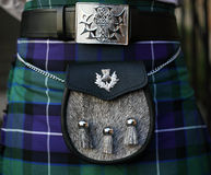 Traditional Scottish outfit. Kilt and sporran Royalty Free Stock Photos
