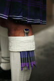 Traditional Scottish outfit. Closeup of details Royalty Free Stock Photo