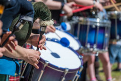 Traditional scottish piping and drumming background Royalty Free Stock Photography