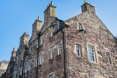 Traditional Scottish Stone Building and Clear Sky royalty free stock photos