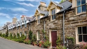 Traditional Scottish Stone Houses stock footage