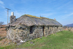 Traditional scottish thatched croft house Stock Photos
