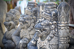 Traditional sculpture in ancient temple, Thailand Stock Image