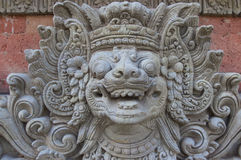 Traditional sculpture of the Bali Royalty Free Stock Photography